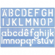 Helix H57 - 50mm Template set - letters uppercase, letters lowercase, numbers, symbols